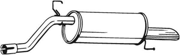 Silencieux arrière BOSAL 185181 d'origine