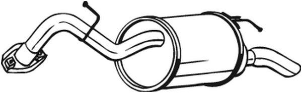 Silencieux arrière BOSAL 228063 d'origine