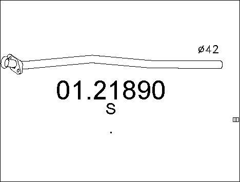 Tuyau d'échappement MTS 01.21890 d'origine