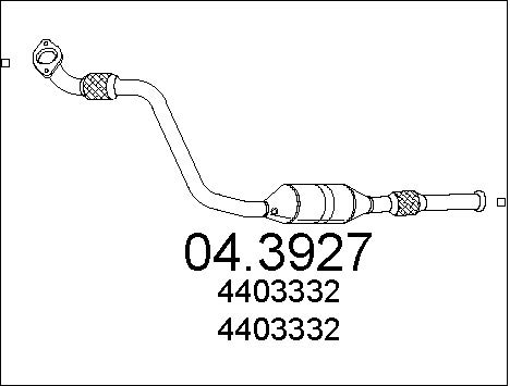 Catalyseur MTS 04.3927 d'origine
