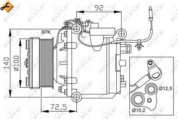 Compresseur climatisation nrf 32165 for Garage saab lyon