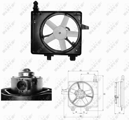 ventilateur refroidissement du moteur pour renault master. Black Bedroom Furniture Sets. Home Design Ideas