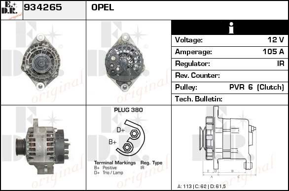 alternateur change standard pour opel vectra c gts 1 9 cdti. Black Bedroom Furniture Sets. Home Design Ideas