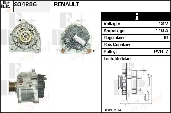 alternateur change standard pour renault scenic ii 1 9. Black Bedroom Furniture Sets. Home Design Ideas